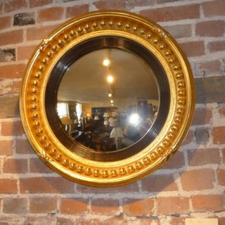 Gilt Convex Mirror