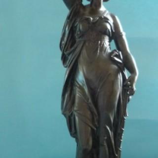 Eugene Laurent Bronze of Diana the Huntress