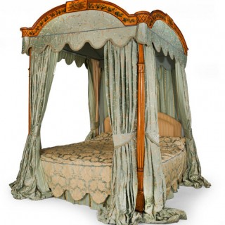GEORGE III PERIOD FOUR POSTER BED
