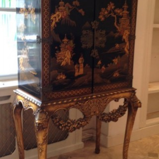 Lacquer Cabinet on Stand