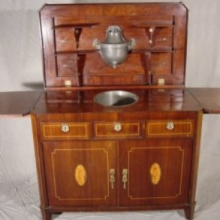 Anglo-Dutch Inlaid Mahogany Washstand
