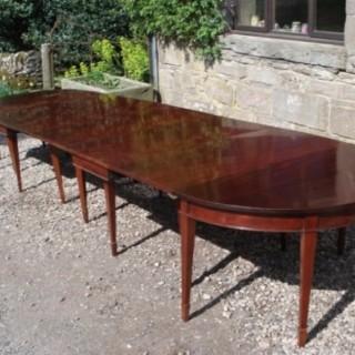 Very Large Mahogany Georgian Dining Table