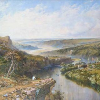 The Tamar Navigation Canal Looking Downriver, 1862