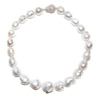 A very fine baroque South Sea pearl necklace