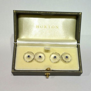 1930's Crystal and Sapphire Cufflinks
