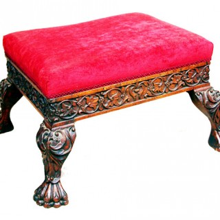 Antique 19th Century Anglo-Indian Padouk Stool