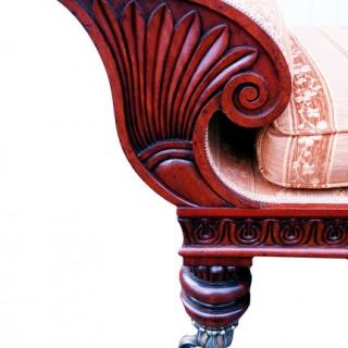 Antique Regency Period Mahogany Chaise Longue