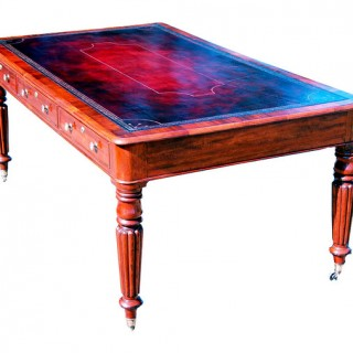 Antique Regency Mahogany Partners Writing Table