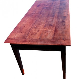 Antique Cherrywood French Farmhouse Dining Table