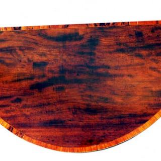 Antique Small Mahogany Demi Lune Card Table