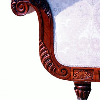 Antique Rosewood Regency Settee