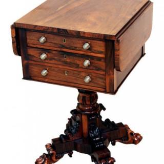 Antique Regency Rosewood Baby Pembroke Table