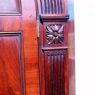 Antique Georgian Mahogany Double Corner Cupboard
