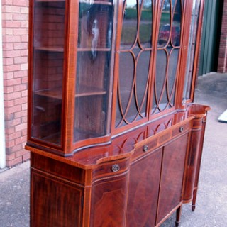 Antique 19th Century Mahogany Display Cabinet