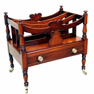 English Regency Mahogany Antique Canterbury