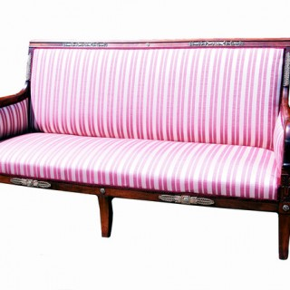 Antique Regency Mahogany French Empire Settee