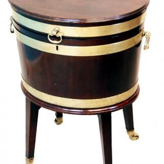 Antique Georgian Mahogany Oval Wine Cooler