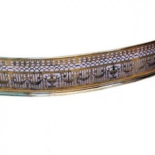 Antique Regency Serpentine Brass Fender