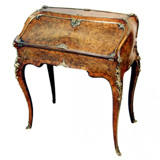 Antique Burr Walnut Bureau De Dame