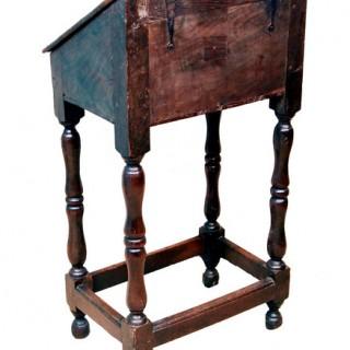 Antique Queen Anne Elm Bureau Or Bible Box