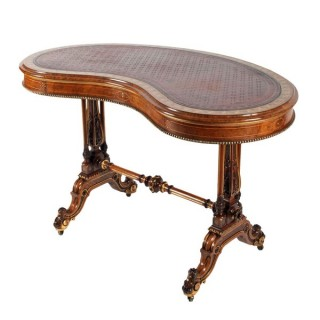 Victorian Kidney Shaped Writing Table (c. 1870	England)