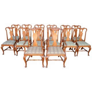 Set of 14 George II Style Dining Chairs