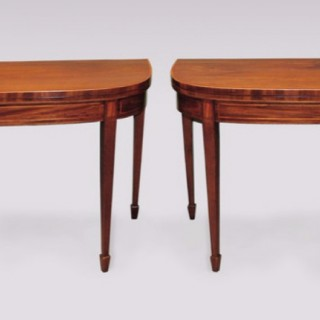 A pair of late 18th Century Mahogany Card Tables.