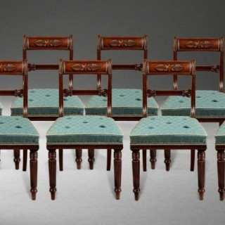 A Set of 8 Antique Dining Chairs of the Late Georgian Period