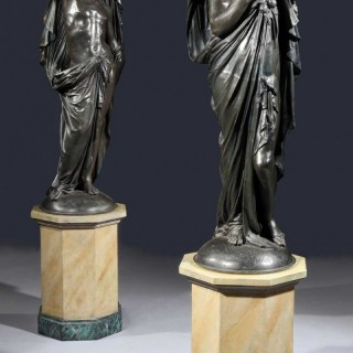 A Pair of Antique Statues depicting Autumn and Spring