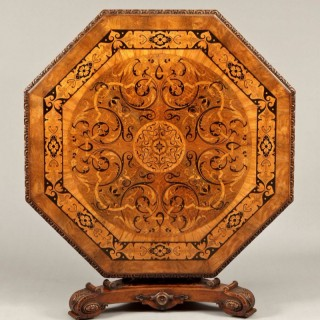 An Antique Inlaid Centre Table stamped James Winter & Sons, London