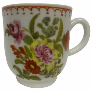 Bow Porcelain Polychrome Coffee Cup