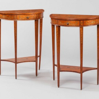 A Pair of Console Tables in the Neoclassical Style  Attributed to Edwards & Roberts