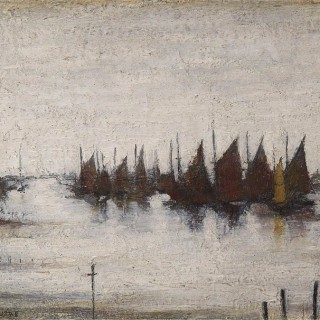Harbour With Fishing Boats, 1945