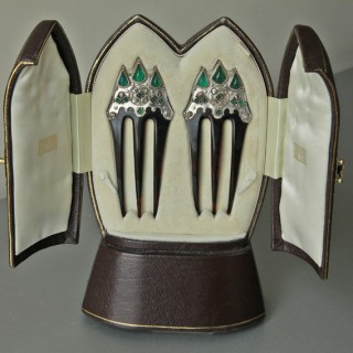 'Gothic Revival' Jewelled Combs