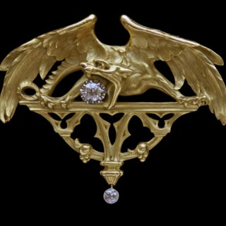 IMPORTANT GOTHIC CHIMERA Pendant/Brooch