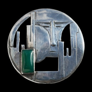 Dutch Early Modernist Brooch (c. 1910	Netherlands)