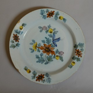 English delft polychrome charger