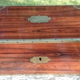 Early 19th Century King Wood Antique Writing Slope (c. 1810London)