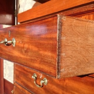 Antique Breakfront Linen Press Made of Mahogany And Coromandel (c. 1820	England)