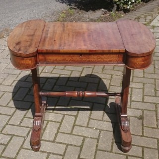 Rare Unusal Work Table Made Of Goncalo Alves (c. 1820	united kingdom)