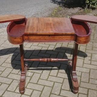 Rare Unusal Work Table Made Of Goncalo Alves (c. 1820united kingdom)