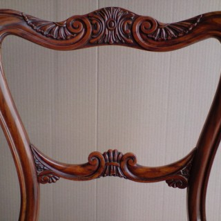 Set of four antique dining chairs (c. 1820England)