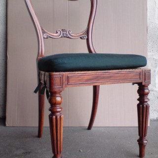 Set of four antique dining chairs (c. 1820	England)