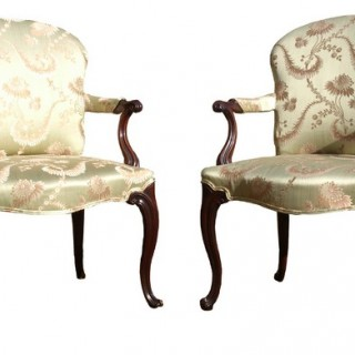 Pair of 18th Century Antique Library Chairs (c. 1780	United Kingdom)