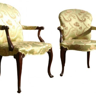 Pair of 18th Century Antique Library Chairs (c. 1780United Kingdom)
