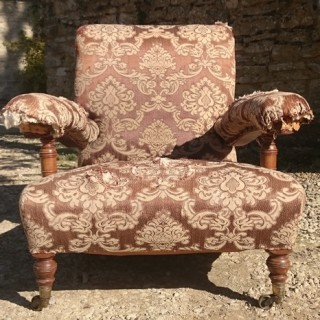 Early Howard and Sons Open Arm Easy Armchair (c. 1860London)