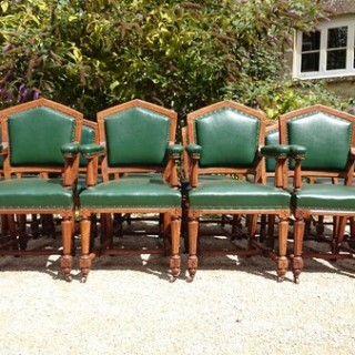 Set of 18 19th Century Dining Chairs by Thomas Fox of London (c. 1860London)