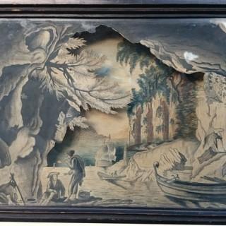 19th Century Diorama New World Island Maritime Scene (1830United Kingdom)