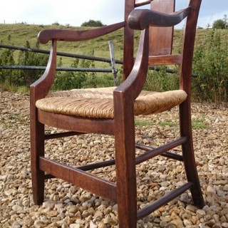19th Century French Provinial Fruitwood Chair (1830 to 1880France)