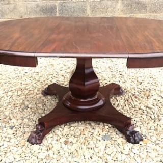 19th Century Mahogany Extending Breakfast Table (c. 1840United Kingdom)